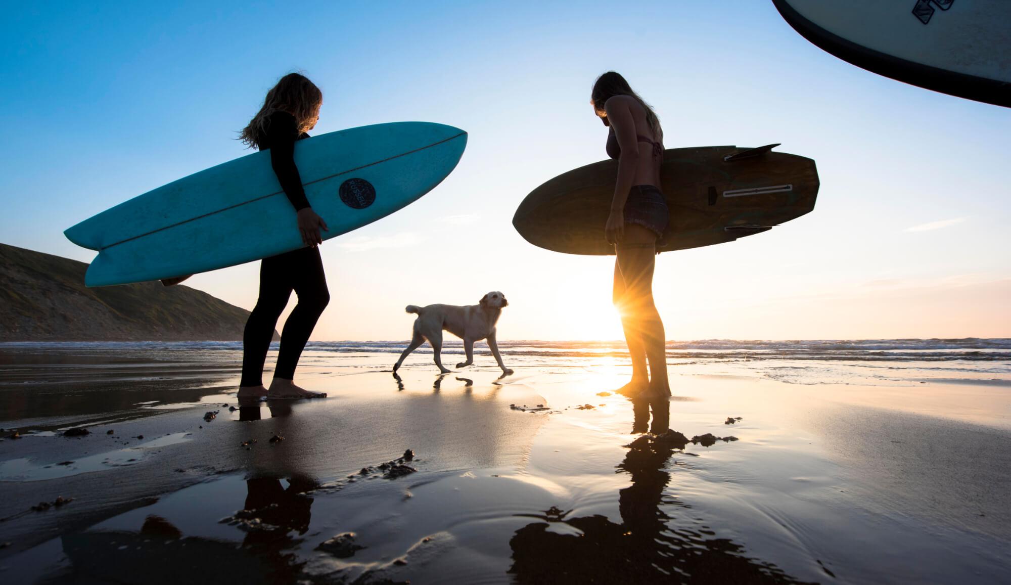 Curso de surf en Moana camps Sopelana