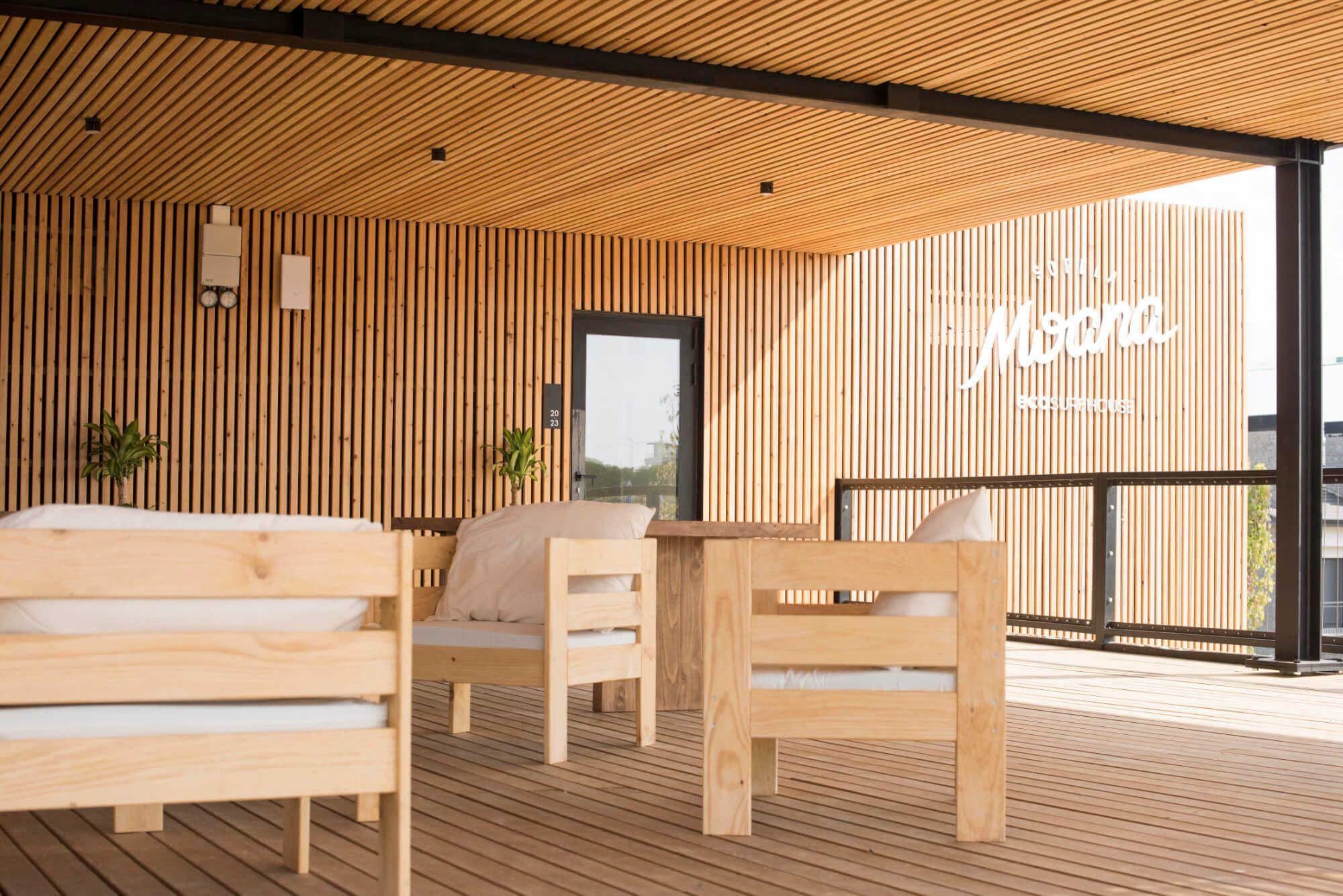 Salón Exterior Moana Surf Hostel Sopelana País Vasco